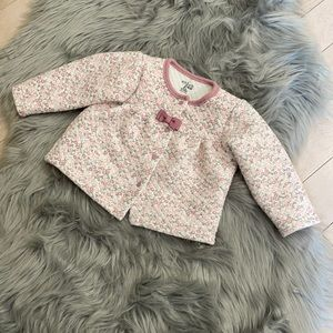 Quilted Chick Pea Baby Girl Sweater/Jacket 12-18